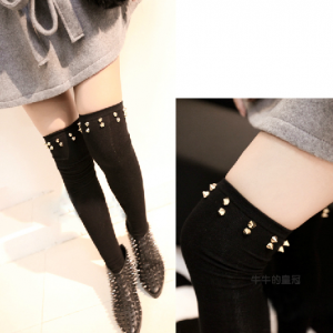 Knit Rivet Over the Knee Socks