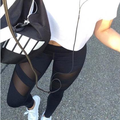 FREE Shipping Double Mesh Leggings