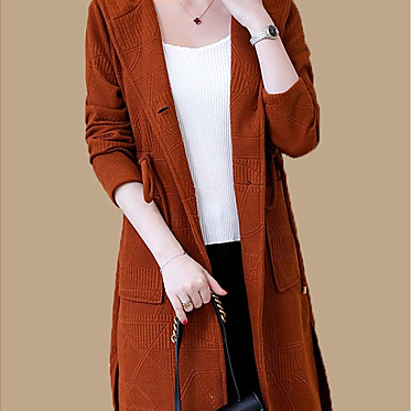 women's solid colored hooded long s..