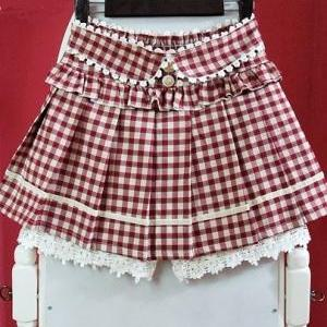 Vintage Inspired Tartan High Waist ..