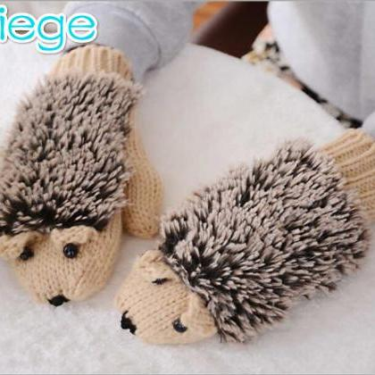 Cute beige color Hedgehog thick cot..