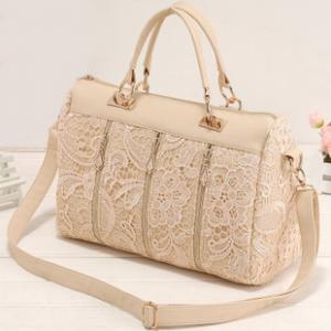 Nice Unique White Lace Handbag Shou..