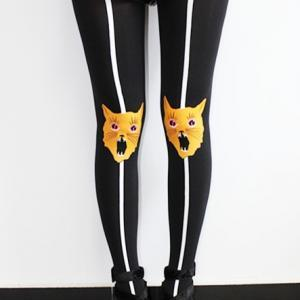 Angry Cat Harajuku Tights