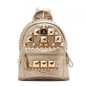 Fashion Square Rivets Backpack Scho..