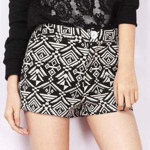 Geometric Print Casual Summer Short..