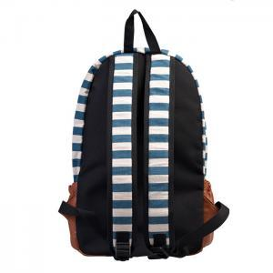 Retro Navy Style Strip Print Backpa..