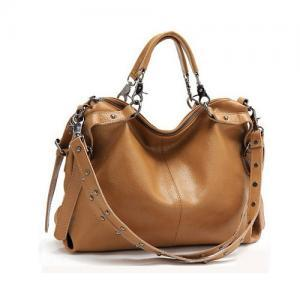 Fashion Rivet Leather Shoulder Bag&..