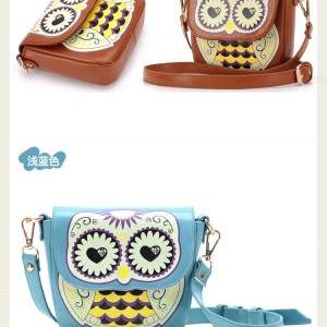 Fashional Cartoon Owl-Shape Floral ..