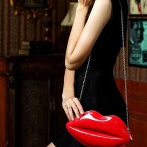 Sexy Jelly Lips Handbag Messenger B..