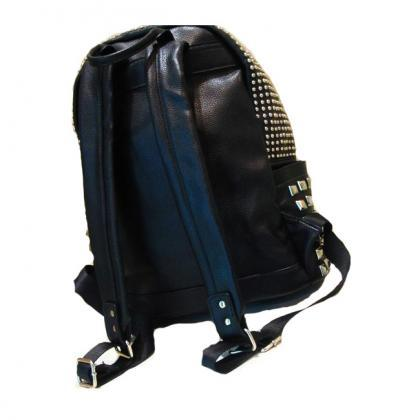 Cool Punk Style Rivet Pure Backpack..