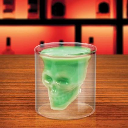 Novelty Crystal Skull Shot Glass Cu..