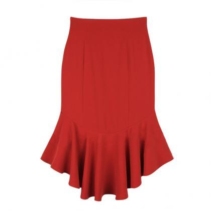 Slim Fishtail Skirt Pleated Skirts ..