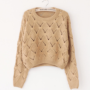 Hollow Round Neck Pullover Sweater ..