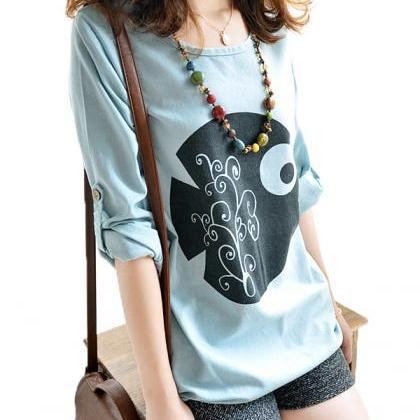 Loose Cotton Shirt T Shirt AD813CC