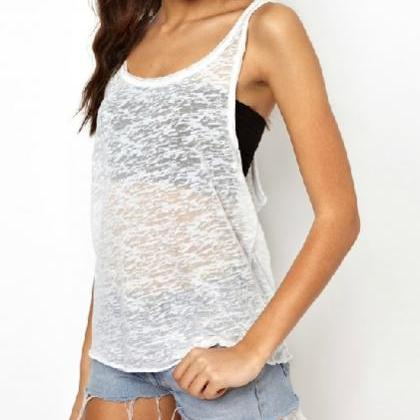 Open Side Tank Top For Girls