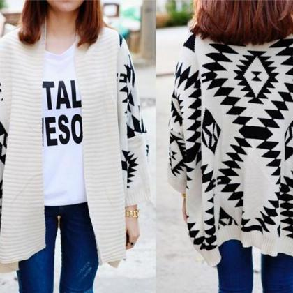Casual Loose Knit Jacket
