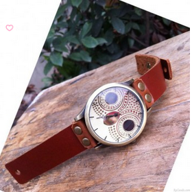 High quality Retro Owl Rivet Leathe..