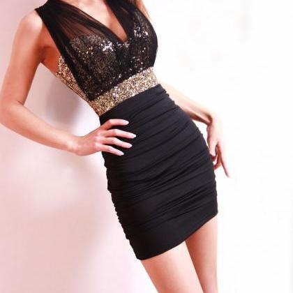 Sexy Fashion Skinny Sequined Slim D..