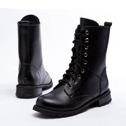 Black Classics Lace Up Leather High..