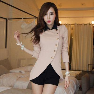 Stylish Pink And Black Coat