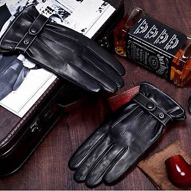 Men's Winter Faux Leather Gloves fo..