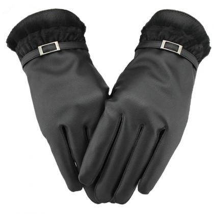 Women Casual PU/Wool Gloves for 201..
