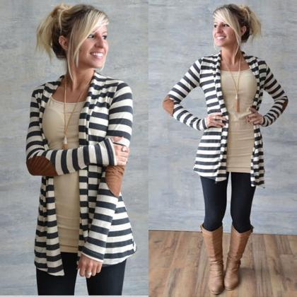 Autumn Women Fashion Long Cardigan ..