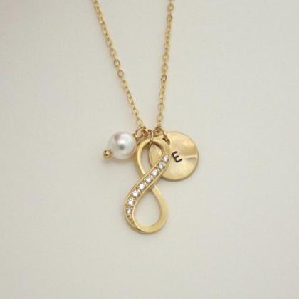 Personalized Infinity Necklace with..
