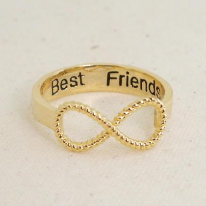 Best Friends Infinity Ring 6.5 Size..