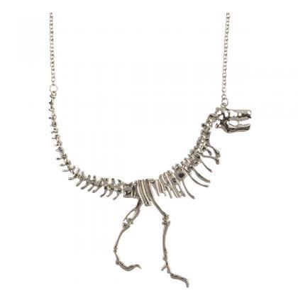 Dinosaur Fossil Skeleton Necklace P..