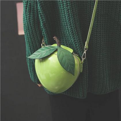 Red and Green Apple Shoulder Bag