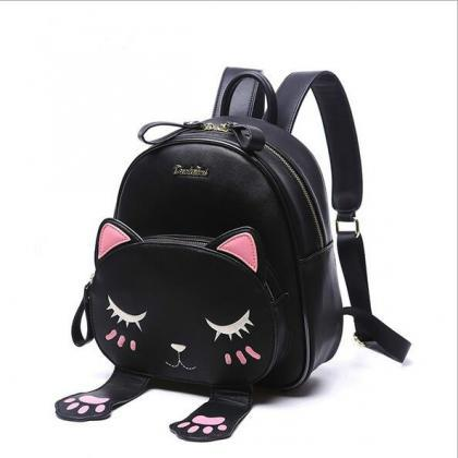 Free shipping cat embroidered backp..