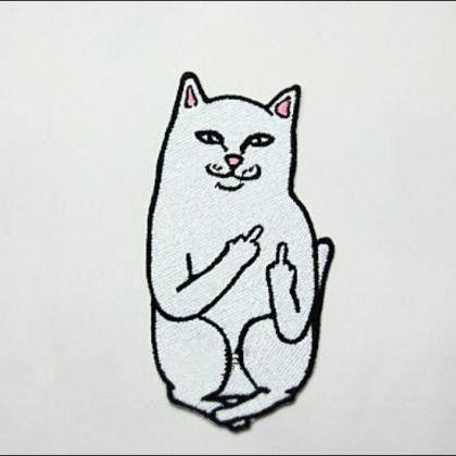 Free shipping one-finger salute cat..