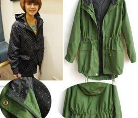 Hooded Elastic Green..