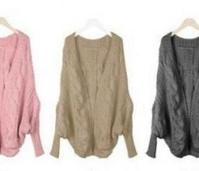 Batwing Knitted Open..