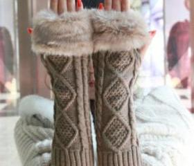 Fur Knitted Cable Wa..