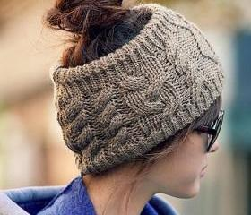 Knit Cable Headband ..
