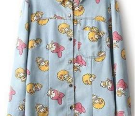 Cartoon Button-up De..