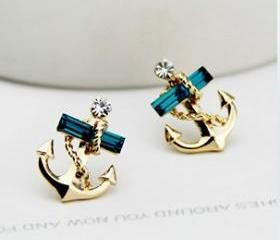 Studded Anchor Earri..