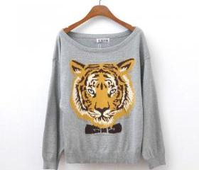 Fashion Gray Tiger H..