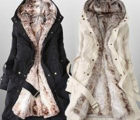 Coat With Faux Fur R..
