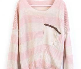 Loose Pink Striped S..