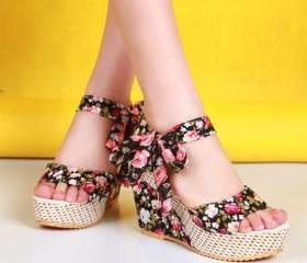 Floral Shoes Fish He..