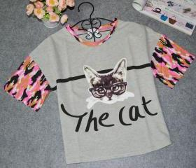 Cat Printed T -shirt..