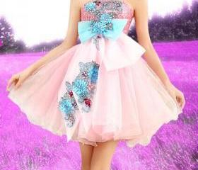 Flowers Dress DG6140..