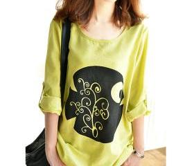 Loose Cotton Shirt T..