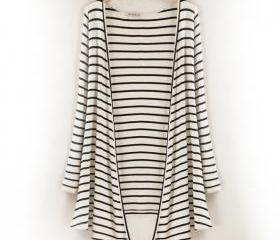 Long-sleeved Striped..