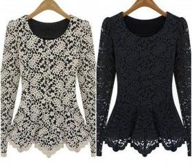 Long Sleeve Lace Blo..