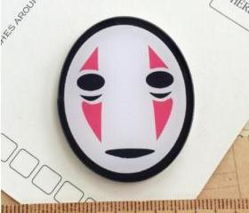 No-Face brooch Pin