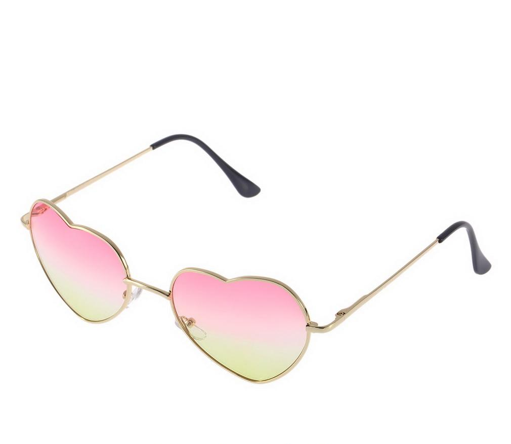 75195d943c2 Gold Framed Heart Shaped Sunglasses Featuring Ombre Tinted Lenses on ...